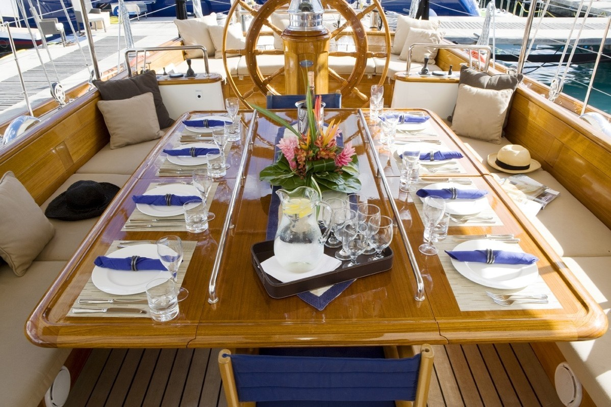 Aft Deck On Board Yacht WINDROSE OF AMSTERDAM
