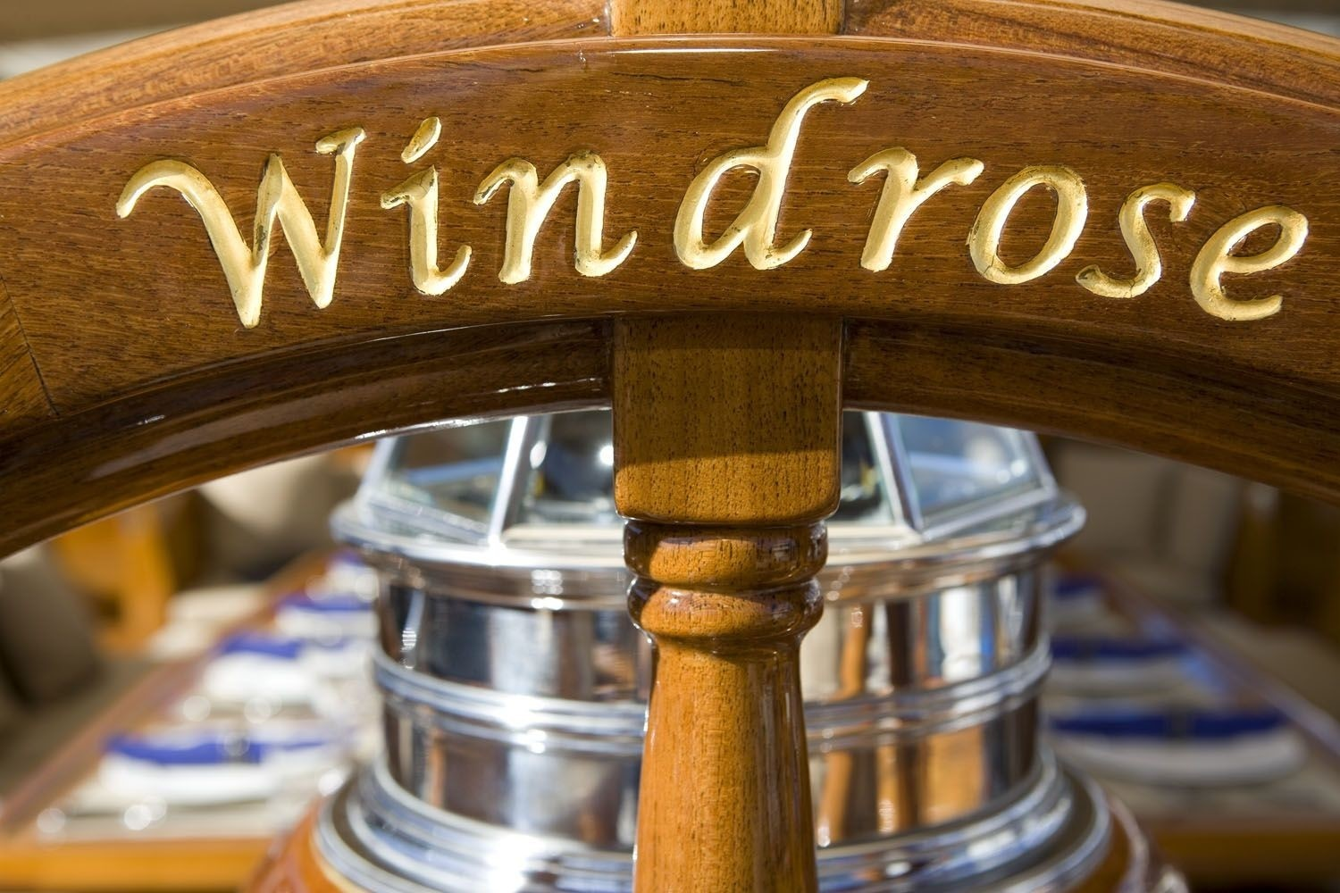 Close Up On Board Yacht WINDROSE OF AMSTERDAM