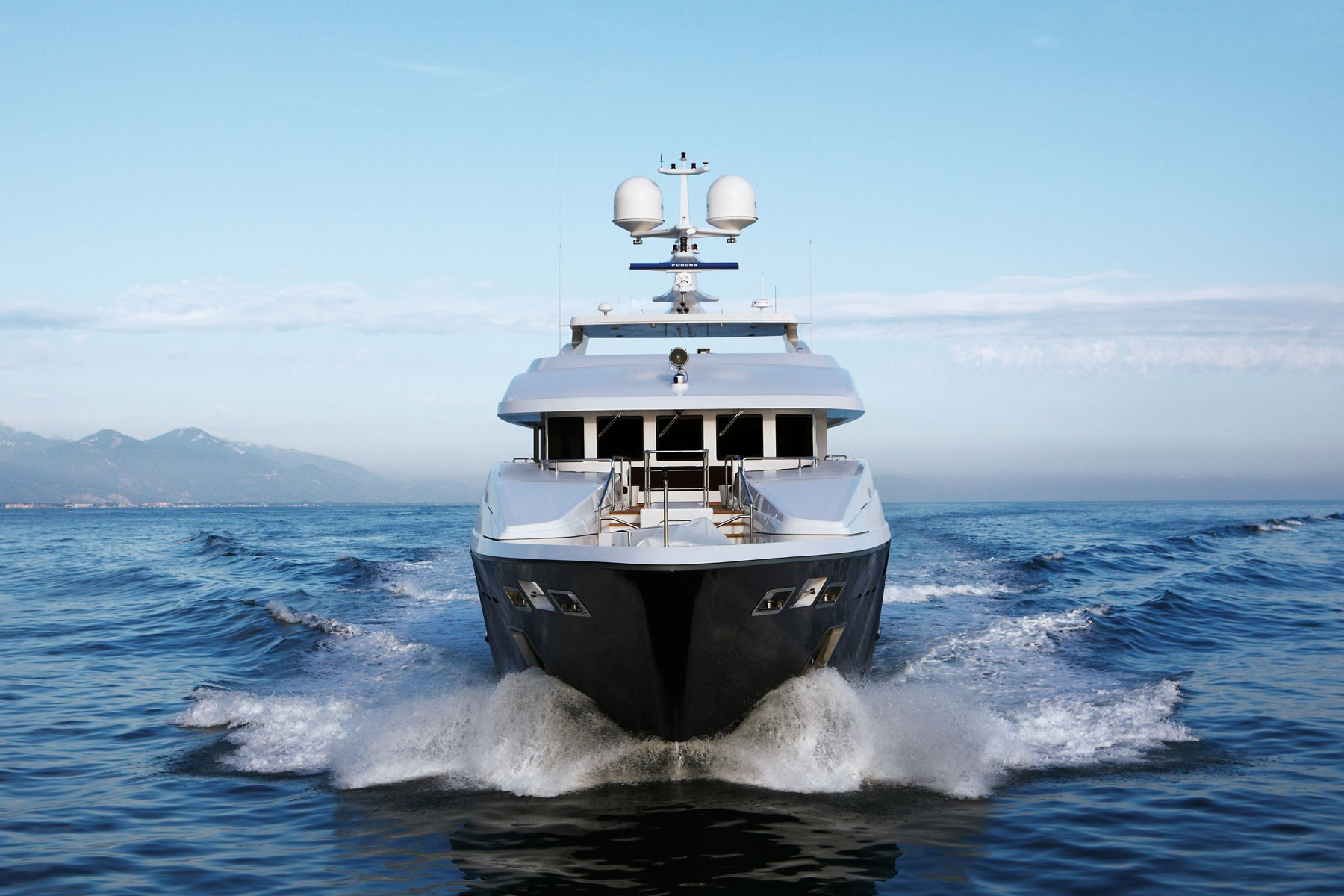 Ship's Bow On Board Yacht ZALIV III