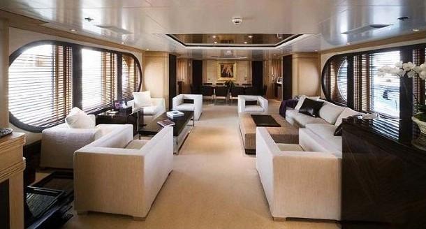 Saloon On Board Yacht MALIBU