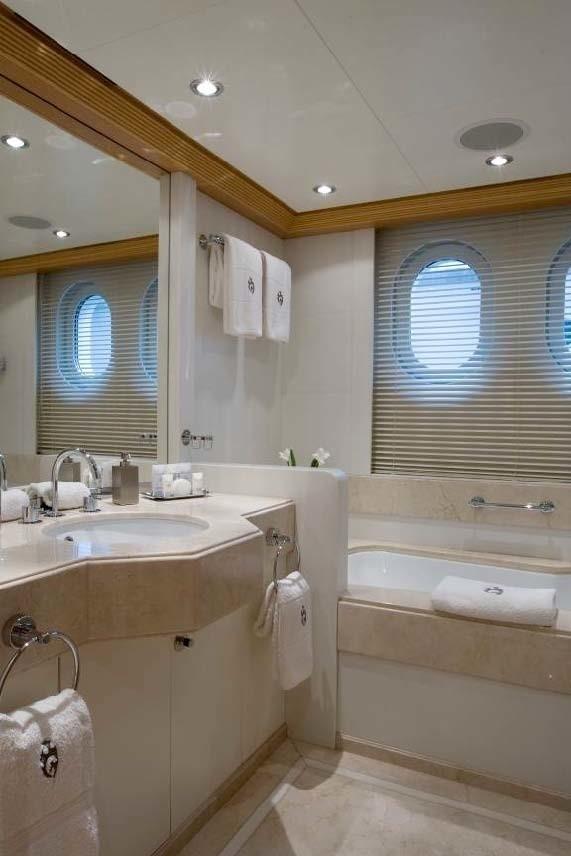 Guest's Bath Aboard Yacht MALIBU