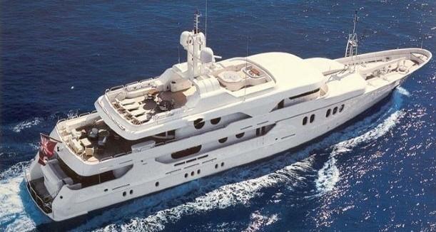 From Above Aspect On Yacht MALIBU