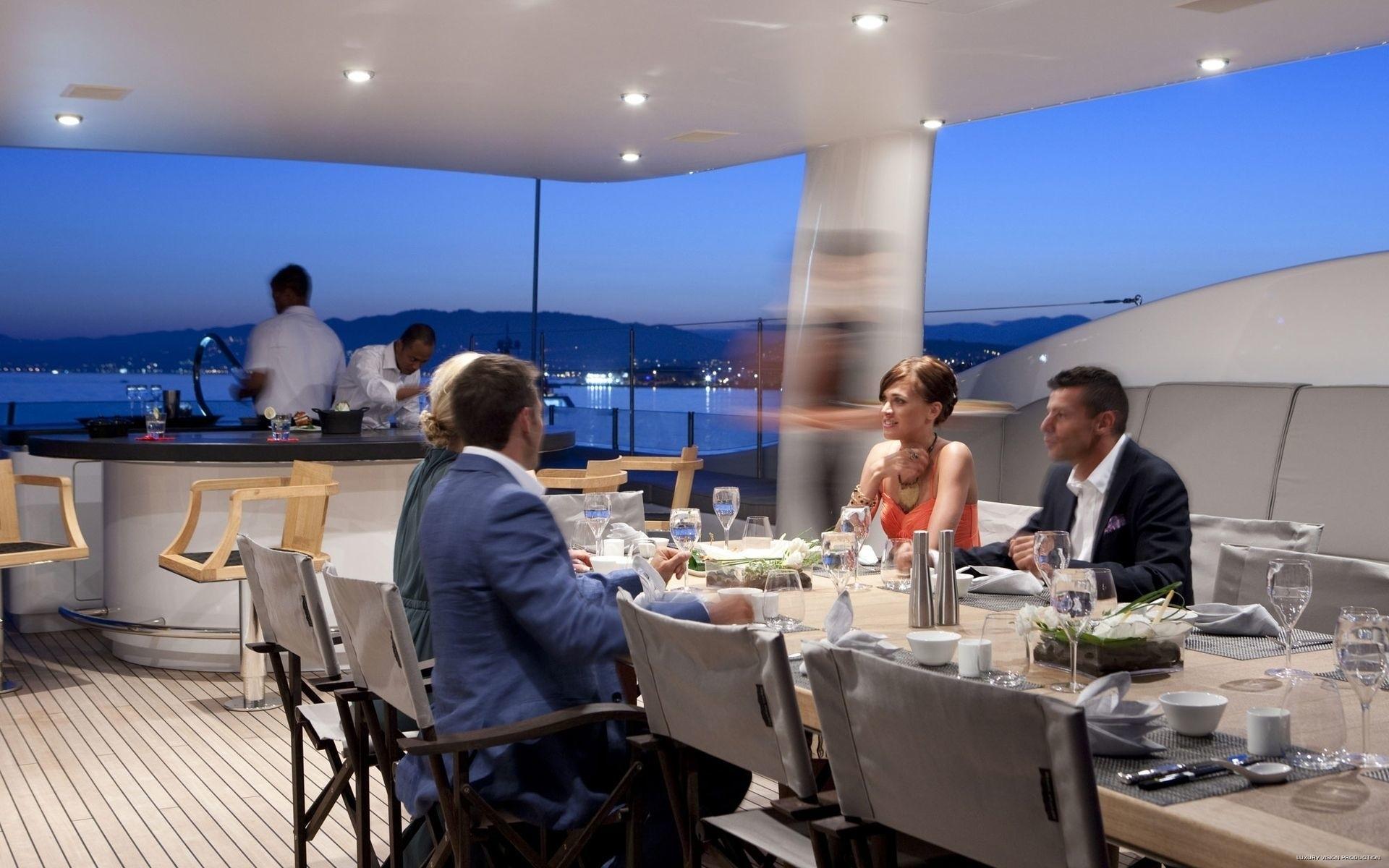 External Eating/dining Aboard Yacht SPIRIT