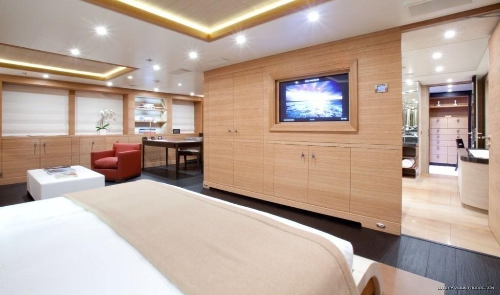 Main Master Cabin Including Officebath Aboard Yacht SPIRIT