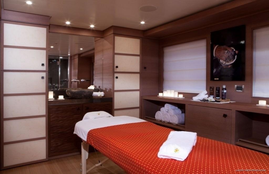 Treatment Area Aboard Yacht SPIRIT