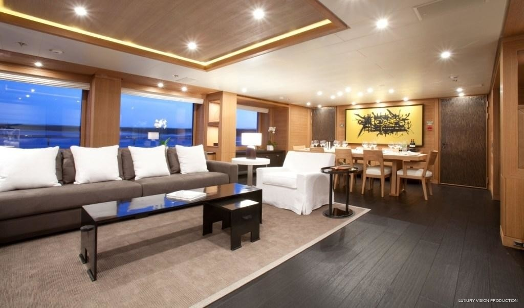 Premier Saloon Aspect On Board Yacht SPIRIT