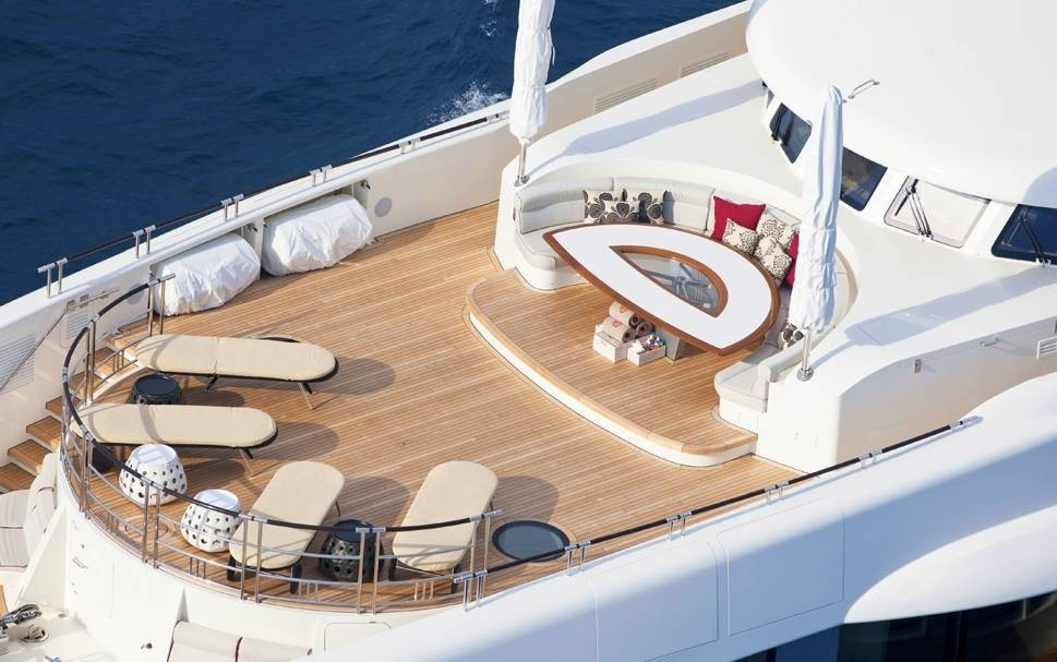 Sun Deck: Yacht QUITE ESSENTIAL's From Above Captured