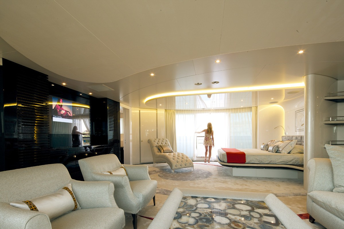 Main Master Cabin With Sitting Aboard Yacht QUITE ESSENTIAL