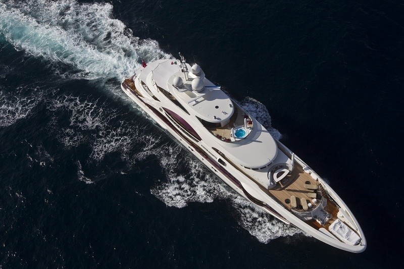 From Above Aspect Aboard Yacht QUITE ESSENTIAL