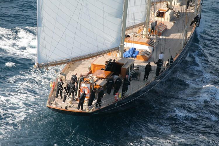 Aft Aspect: Yacht ATLANTIC's Cruising Captured