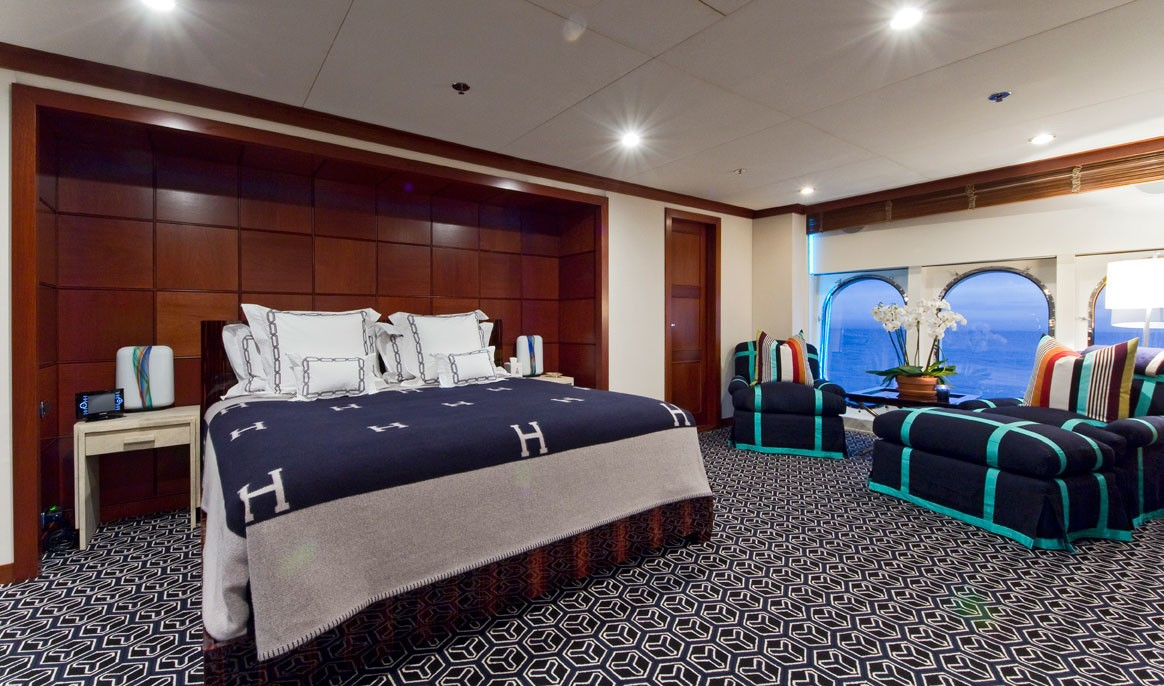 Berth: Yacht DIAMOND A's Main Master Cabin Captured