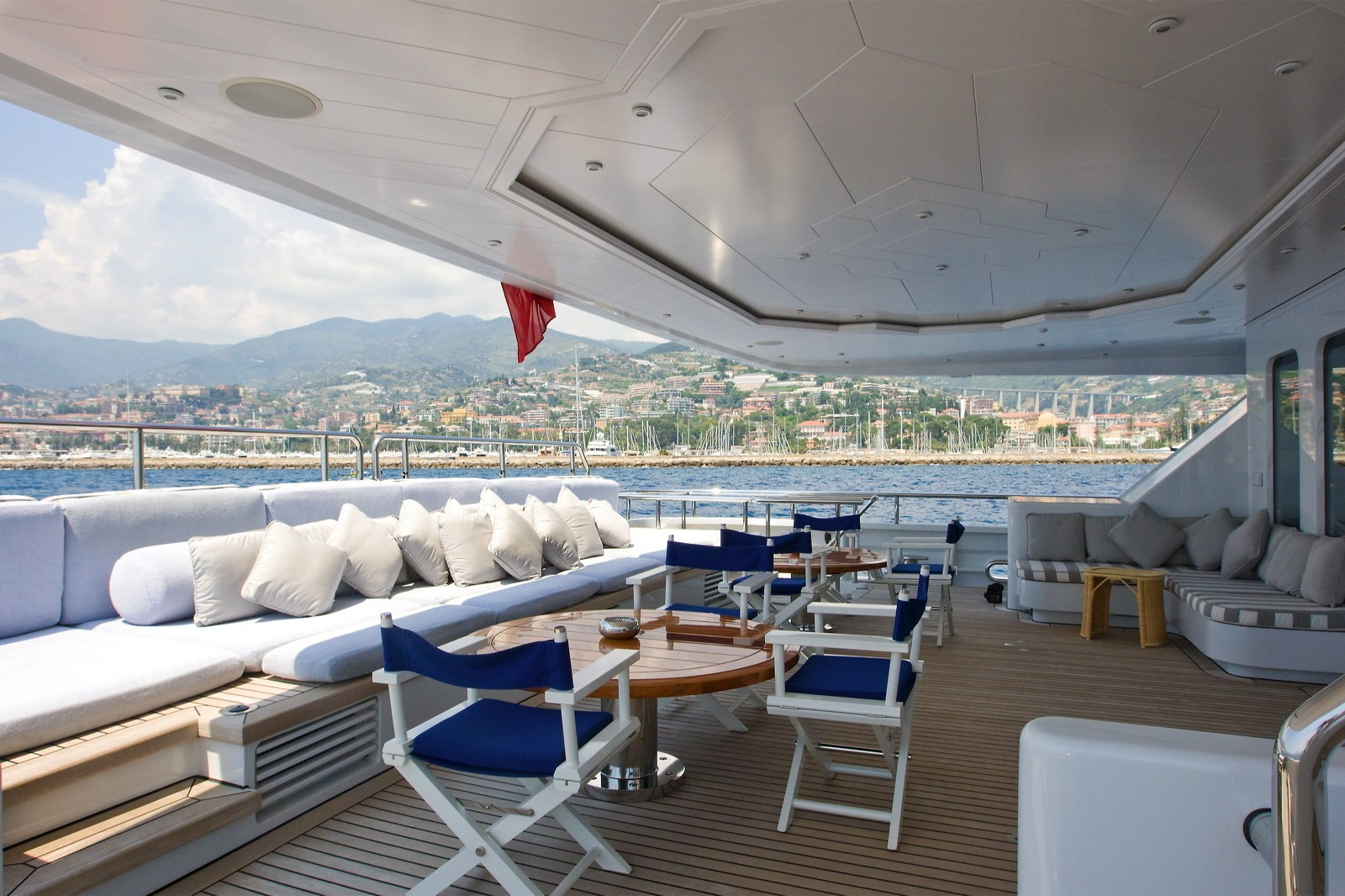 Sitting: Yacht DIAMOND A's Aft Deck Pictured