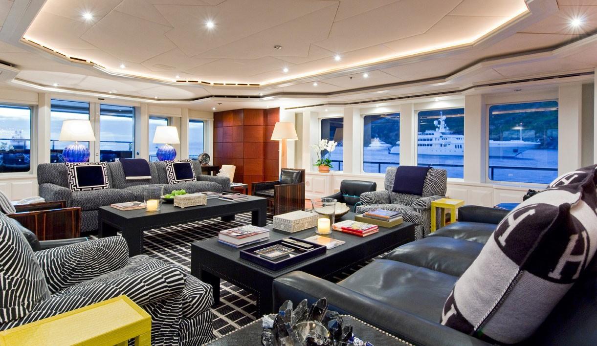 Premier Saloon Aft Aspect On Board Yacht DIAMOND A