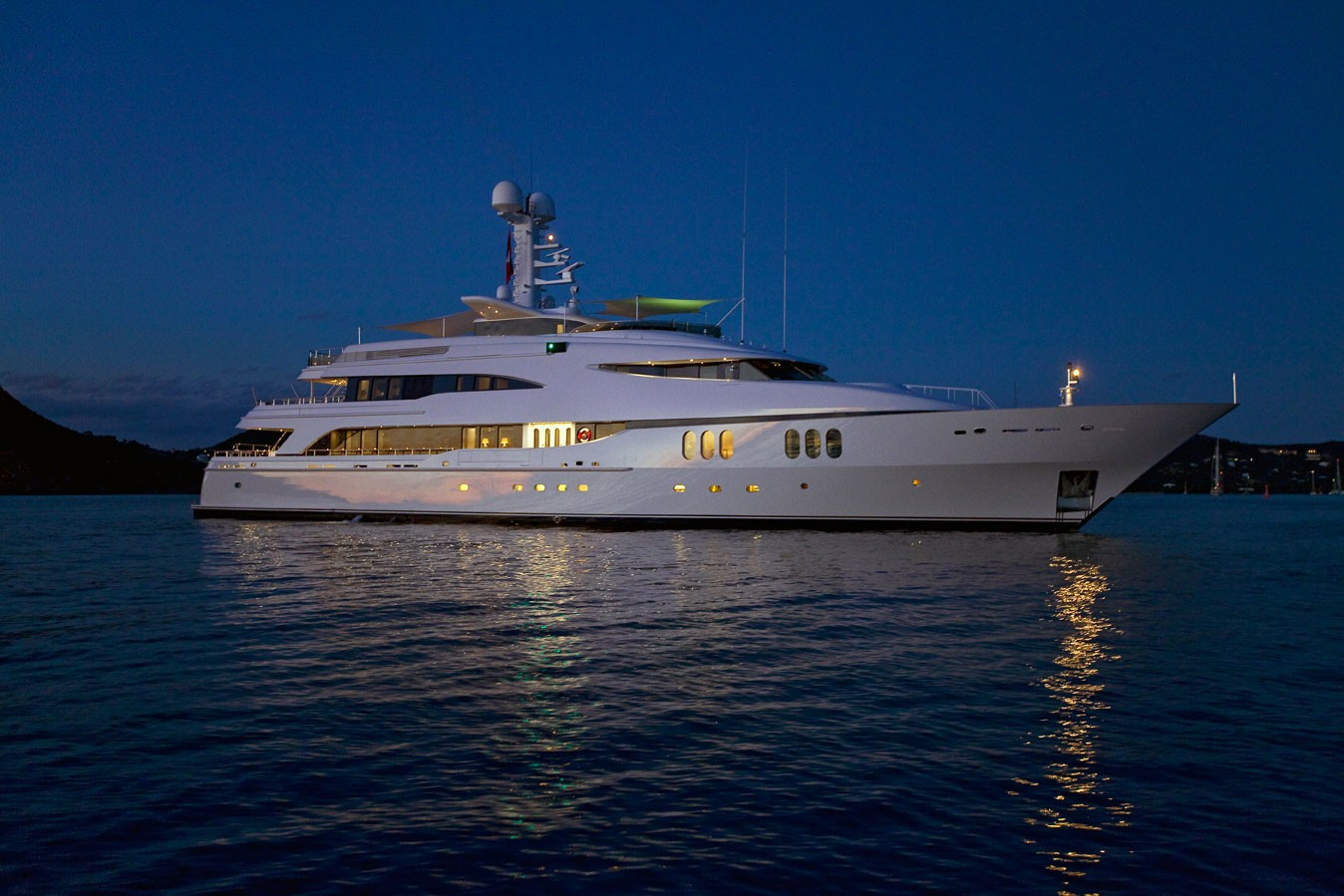 Evening: Yacht DIAMOND A's Overview Photograph
