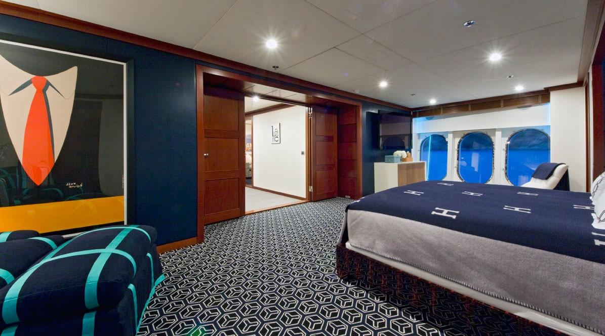Night Time: Yacht DIAMOND A's Main Master Cabin Image