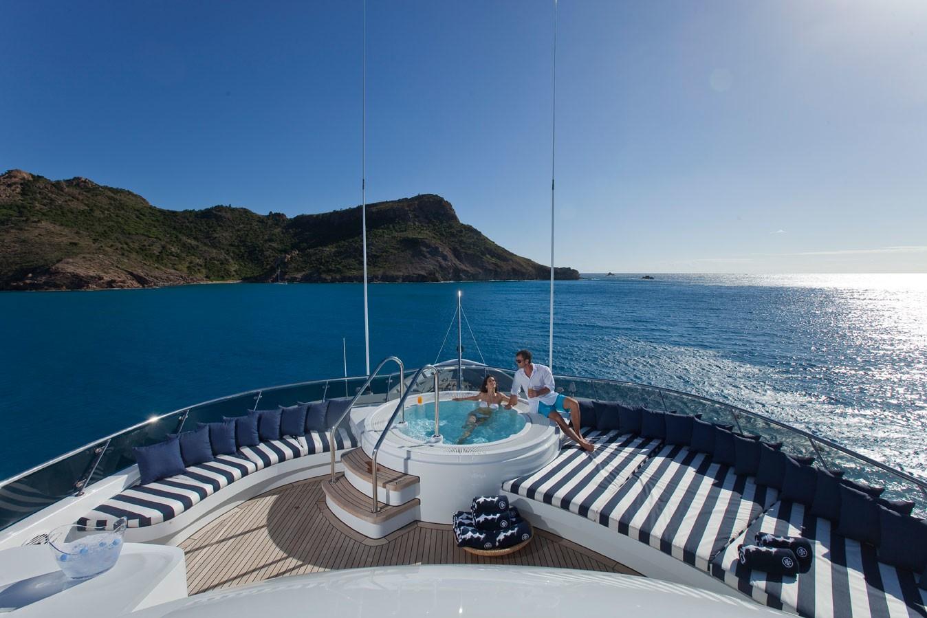 Jacuzzi Pool: Yacht DIAMOND A's Sun Deck Photograph