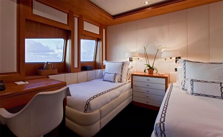 Bridgedeck Deck: Yacht DIAMOND A's Twin Bed Cabin Image