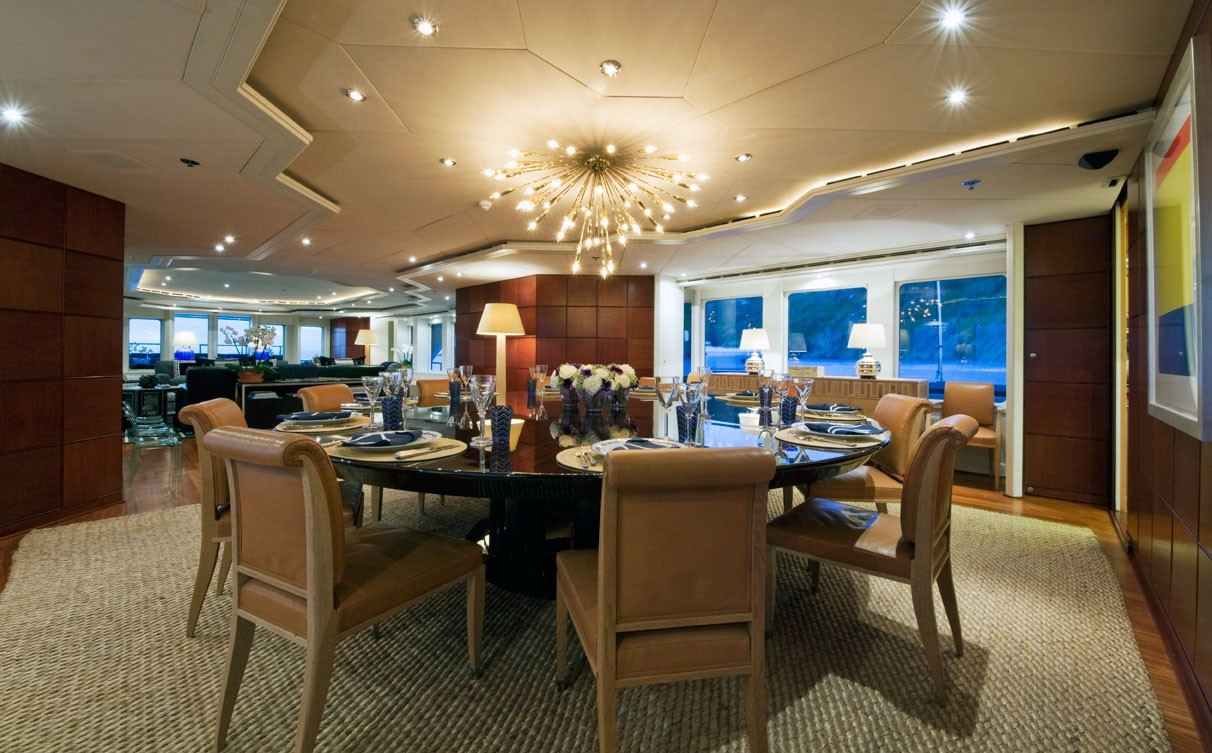 Formal Eating/dining Aboard Yacht DIAMOND A