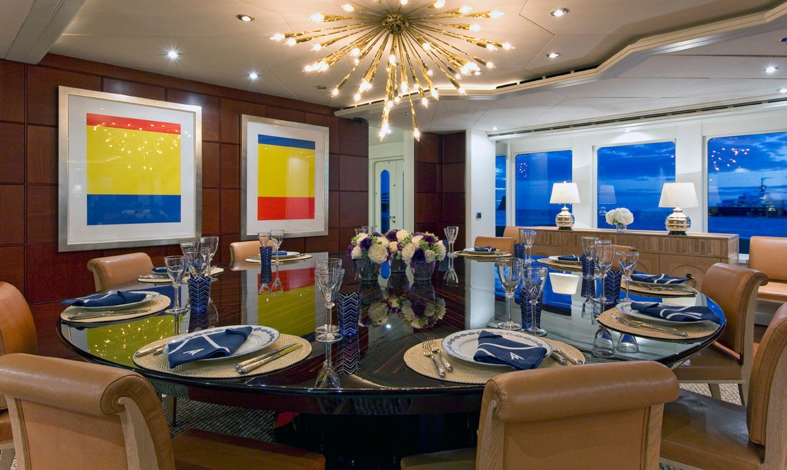 Furniture: Yacht DIAMOND A's Formal Eating/dining Pictured