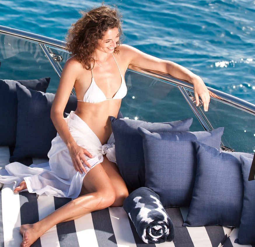 Sunshine Lounging On Board Yacht DIAMOND A