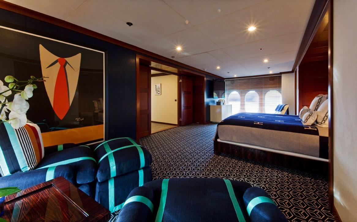 Main Master Cabin Aboard Yacht DIAMOND A