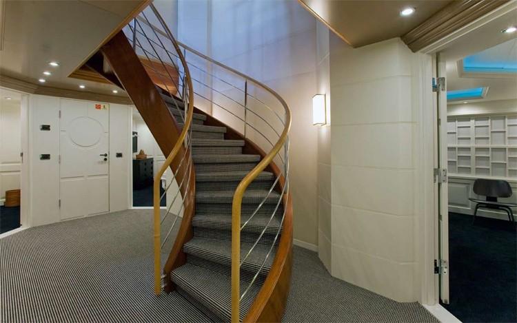 Stairway Aboard Yacht DIAMOND A
