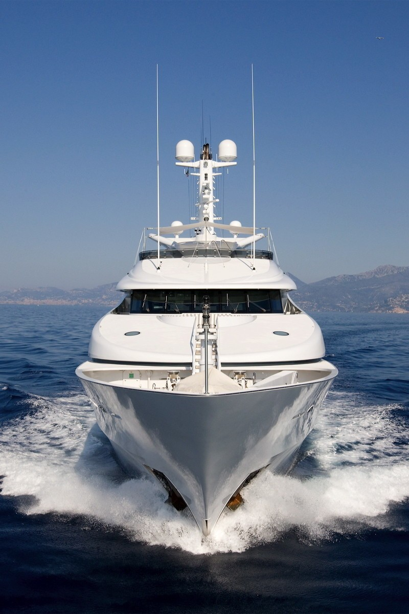 Ship's Bow On Board Yacht DIAMOND A