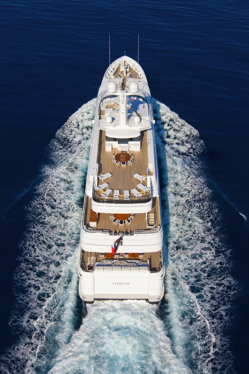Taken From Aerial Aboard Yacht DIAMOND A