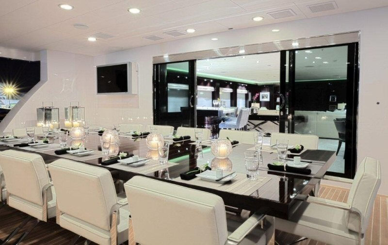 Inside Eating/dining On Yacht CARPE DIEM