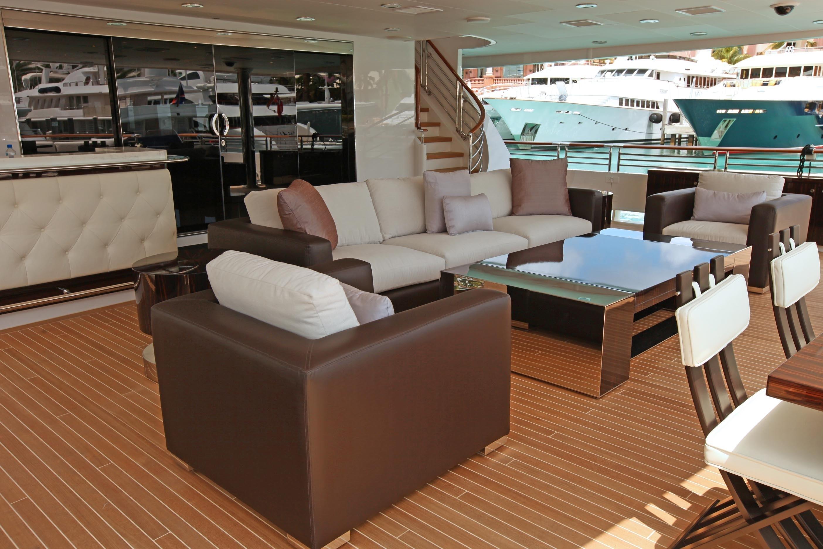 Premier Aft Deck On Board Yacht CARPE DIEM