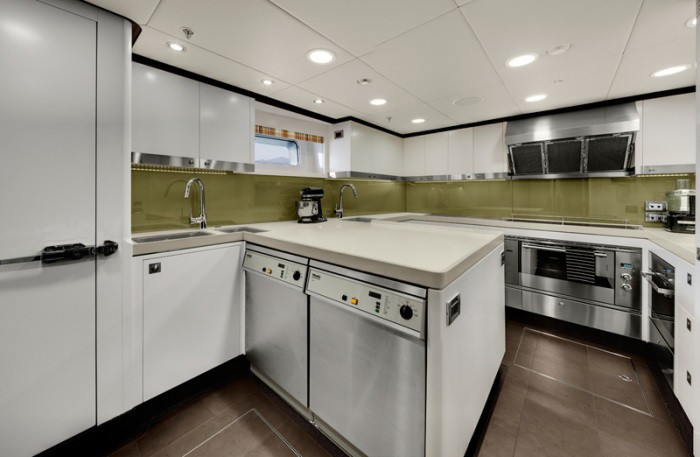 Ship's Galley On Yacht KOKOMO