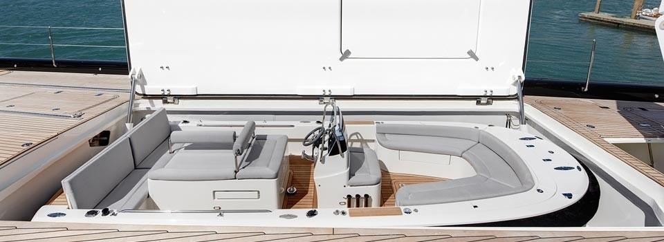 Ship's Tender Storage On Board Yacht KOKOMO