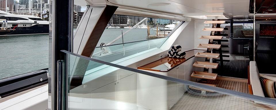 Stairway: Yacht KOKOMO's Saloon Captured