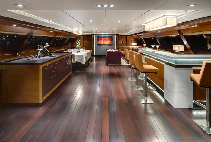 Aft: Yacht KOKOMO's Saloon Photograph