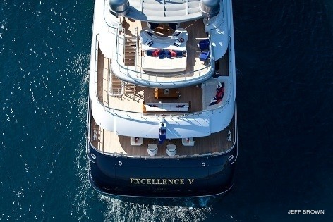 From Above Aft On Board Yacht EXCELLENCE V