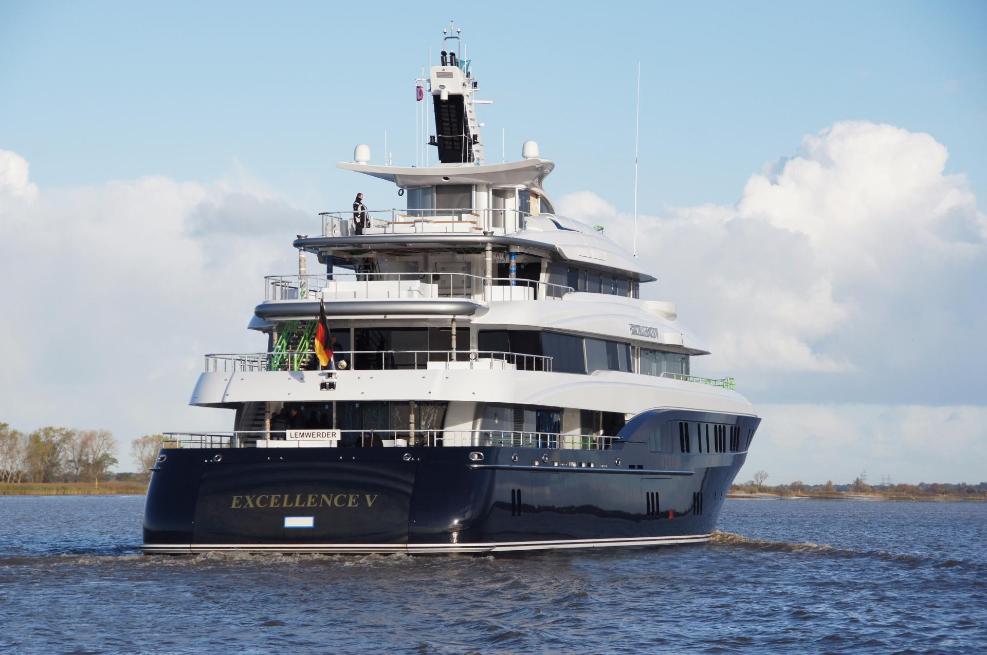 Aft Aspect On Board Yacht EXCELLENCE V