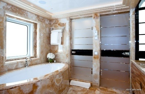 Main Master Bathroom On Yacht EXCELLENCE V