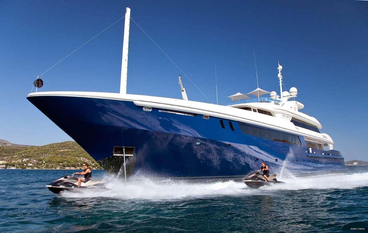 Jetski Skiing On Board Yacht MARY-JEAN II