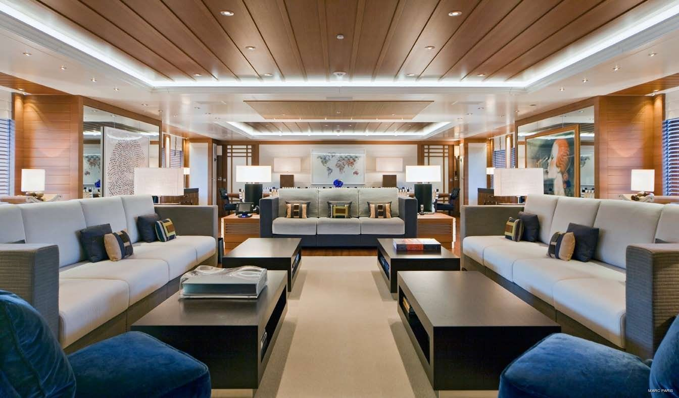 Profile: Yacht MARY-JEAN II's Saloon Pictured