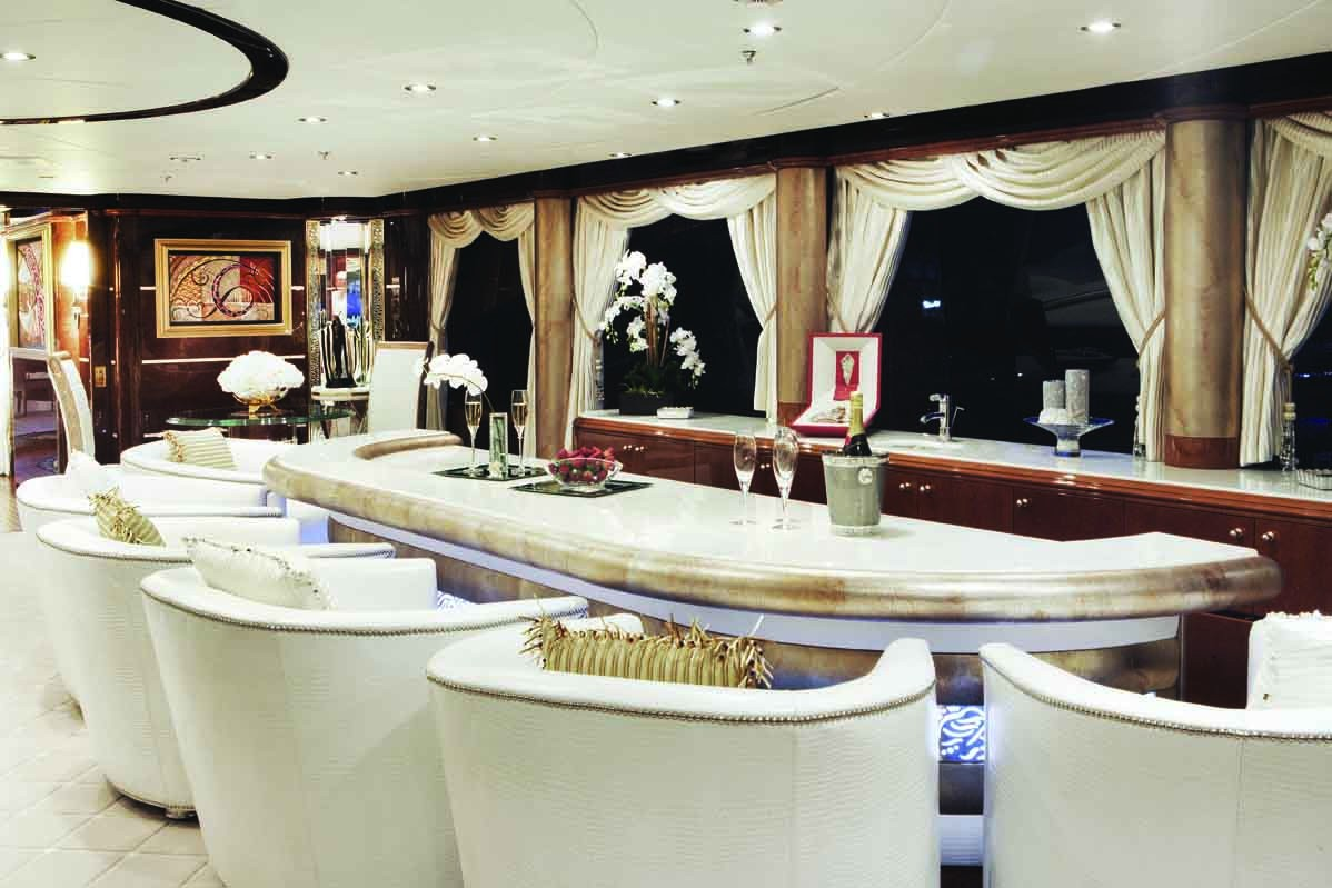 Top Saloon Drinks Bar On Board Yacht DIAMONDS ARE FOREVER