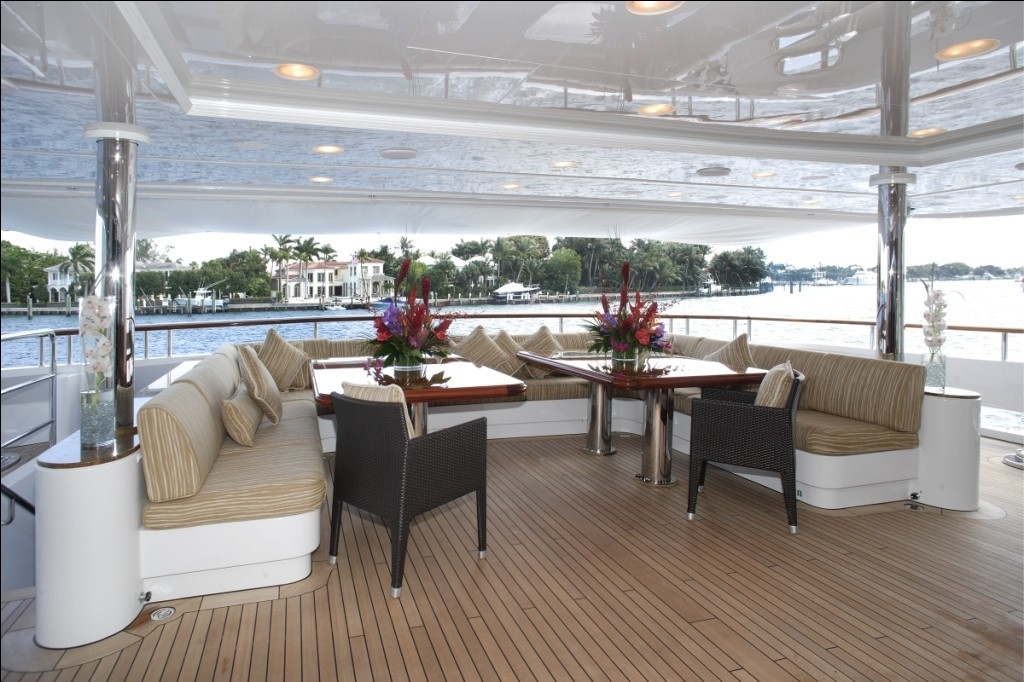 Aft Deck On Board Yacht DIAMONDS ARE FOREVER