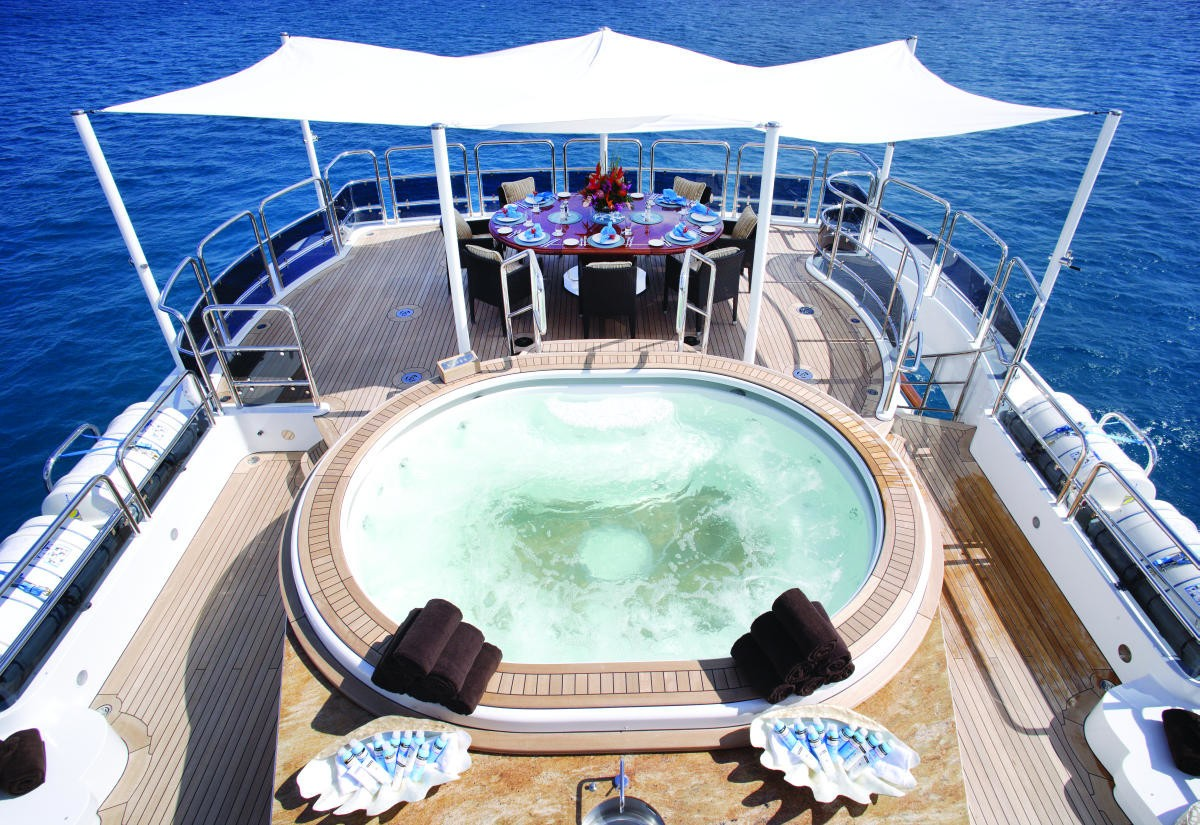 Jacuzzi Pool With Sun Deck Aboard Yacht DIAMONDS ARE FOREVER