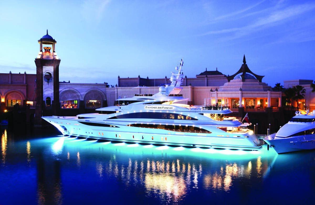 Under Water Lighting Aboard Yacht DIAMONDS ARE FOREVER