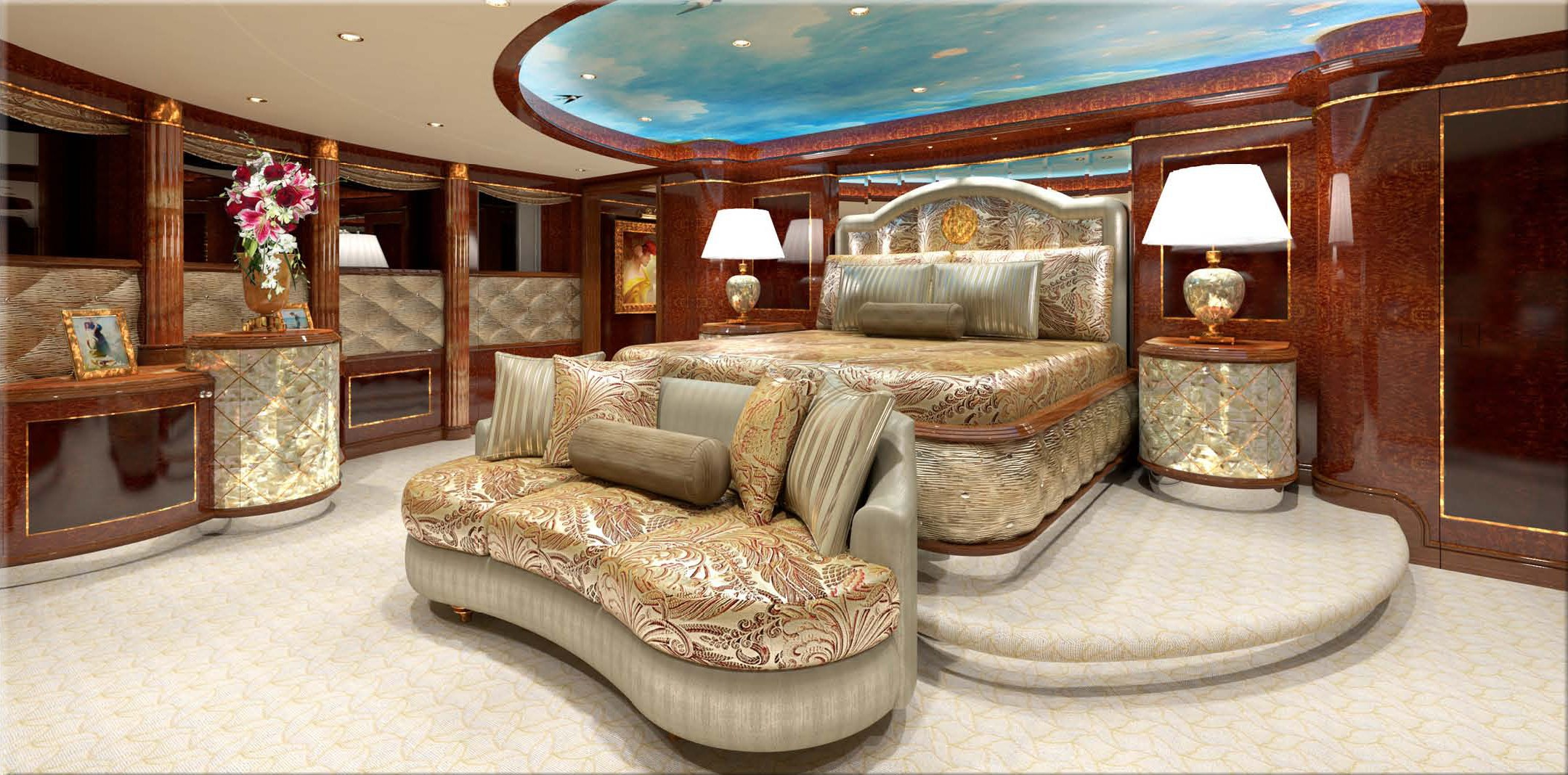 Main Master Cabin On Yacht DIAMONDS ARE FOREVER