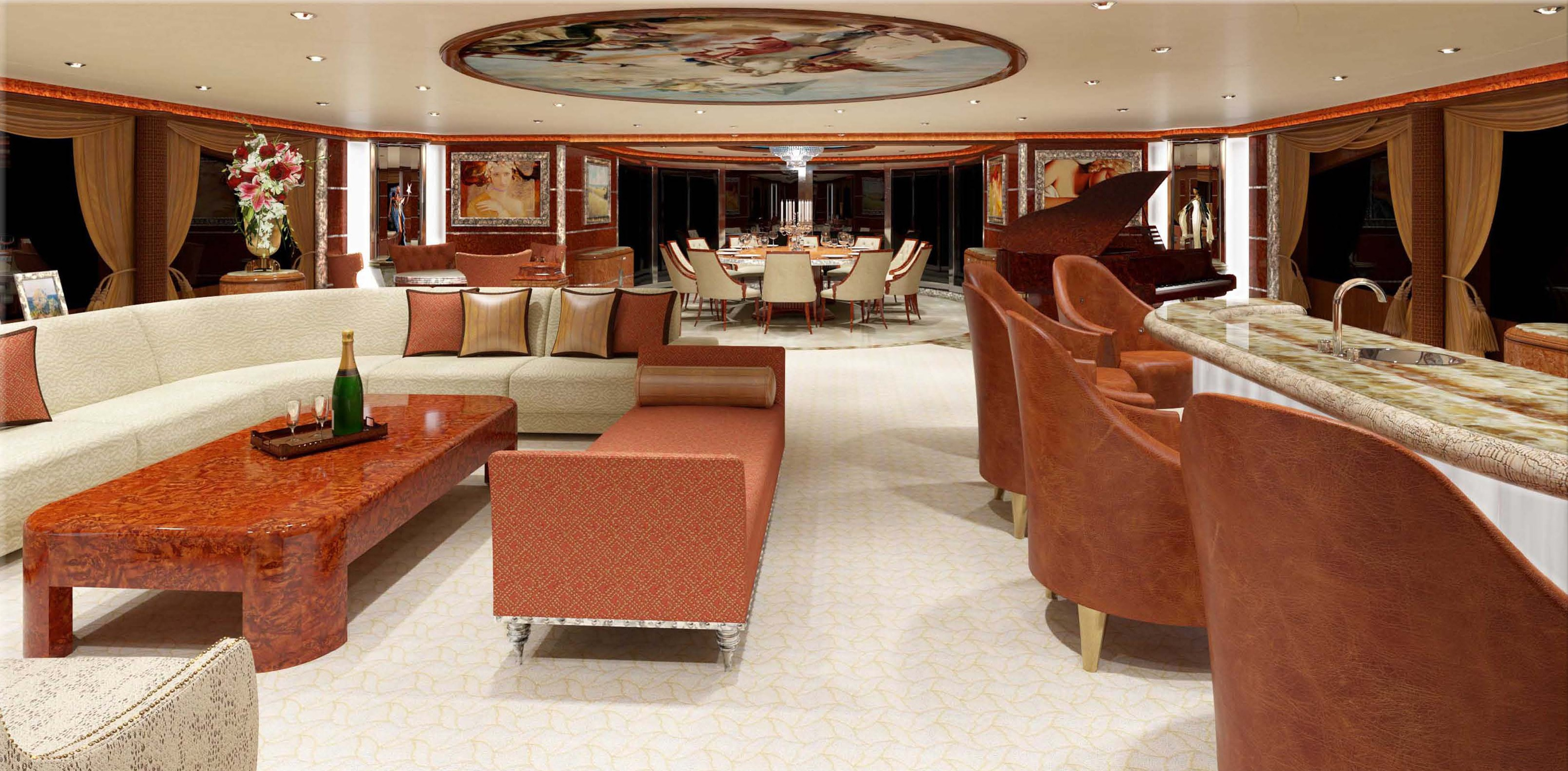Lounge Aboard Yacht DIAMONDS ARE FOREVER