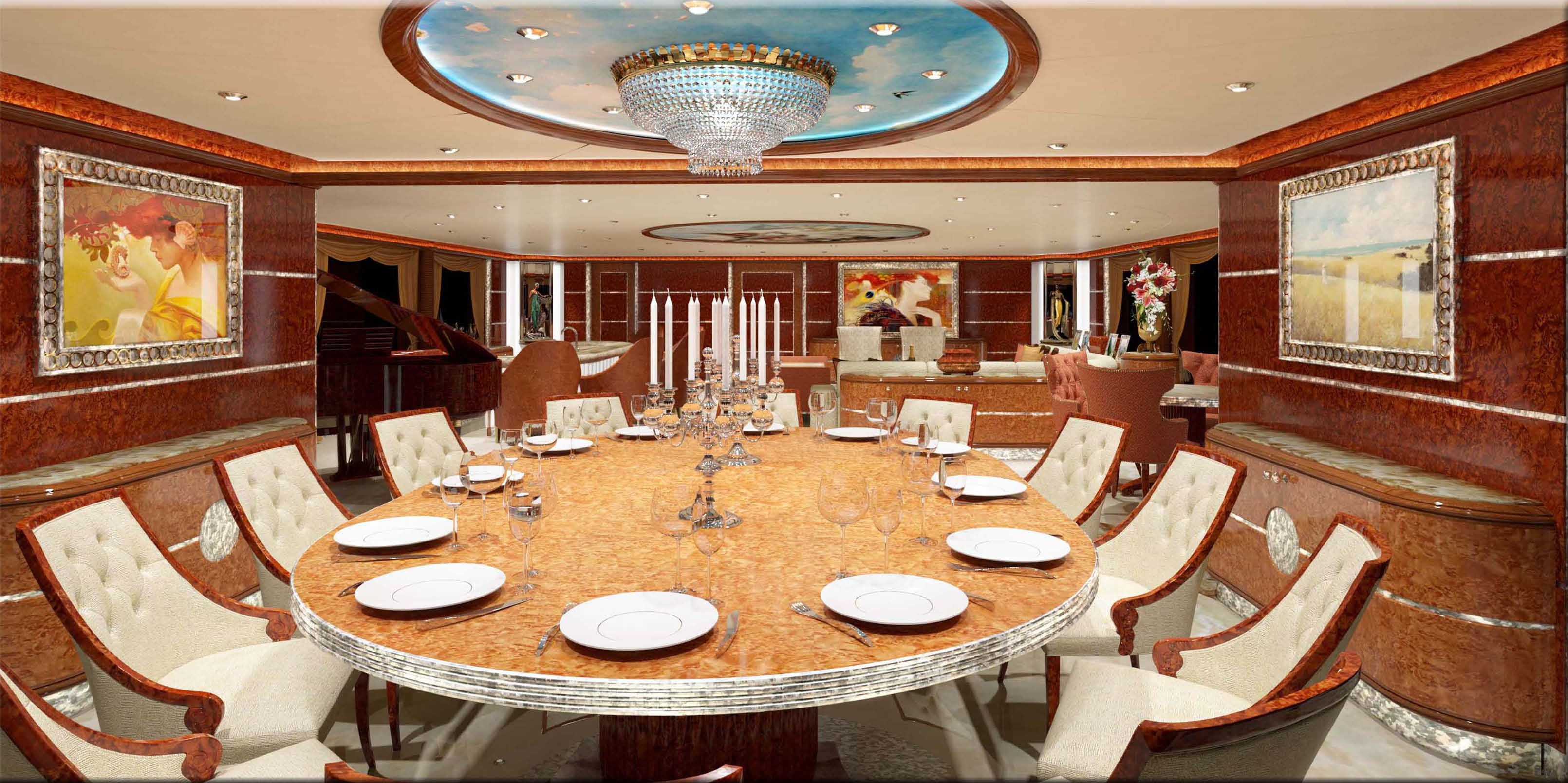 Formal Eating/dining On Board Yacht DIAMONDS ARE FOREVER
