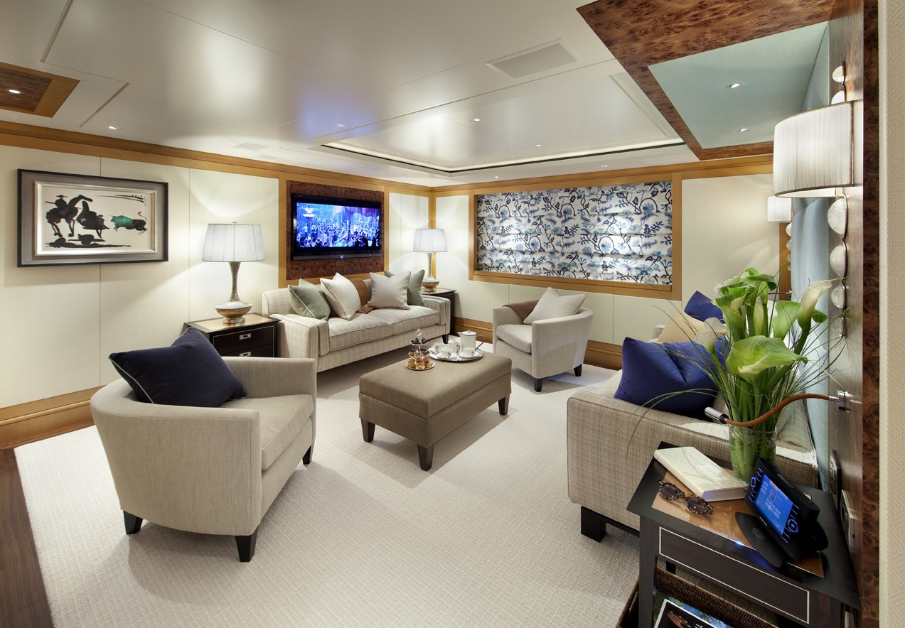 Aft Guest's Saloon On Yacht LADY BRITT
