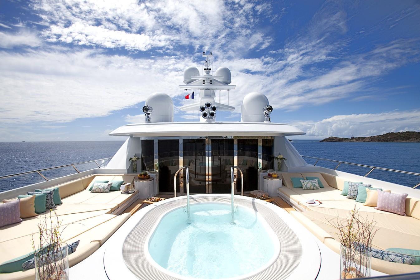 Jacuzzi Pool Aboard Yacht LADY BRITT