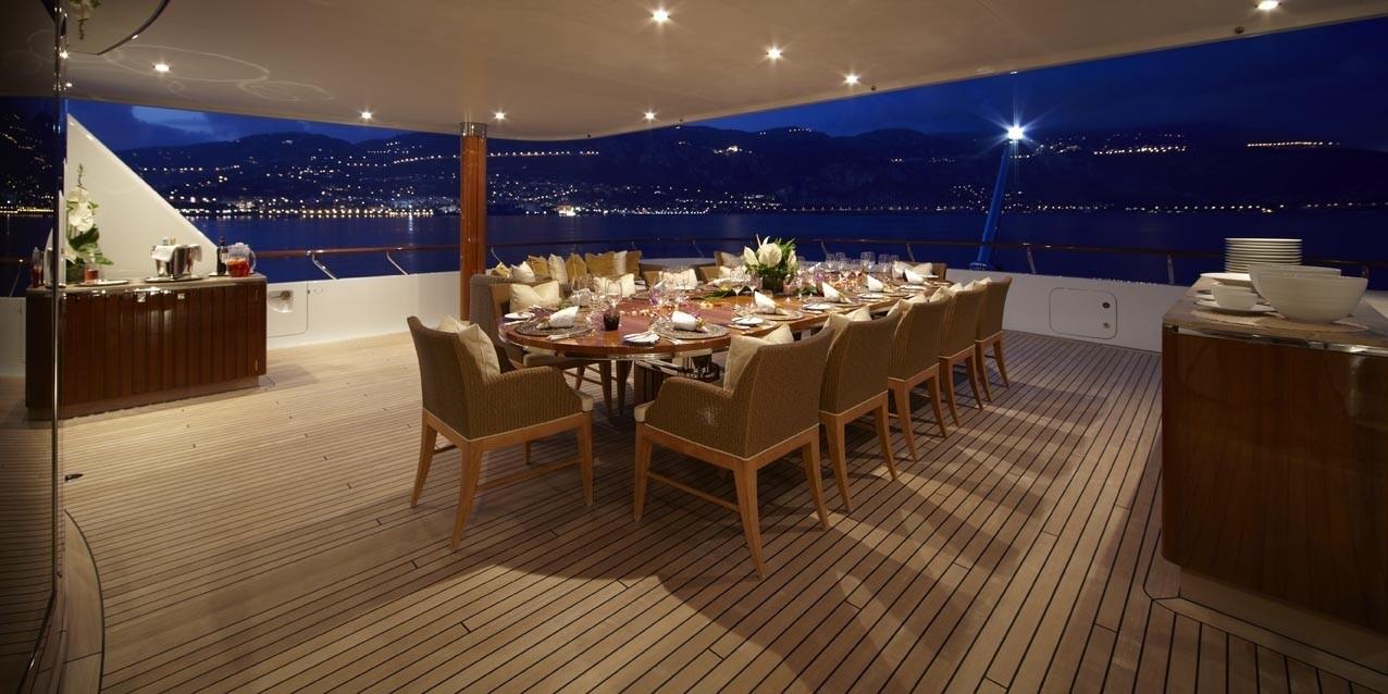 Al Fresco Eating/dining Aboard Yacht LADY BRITT