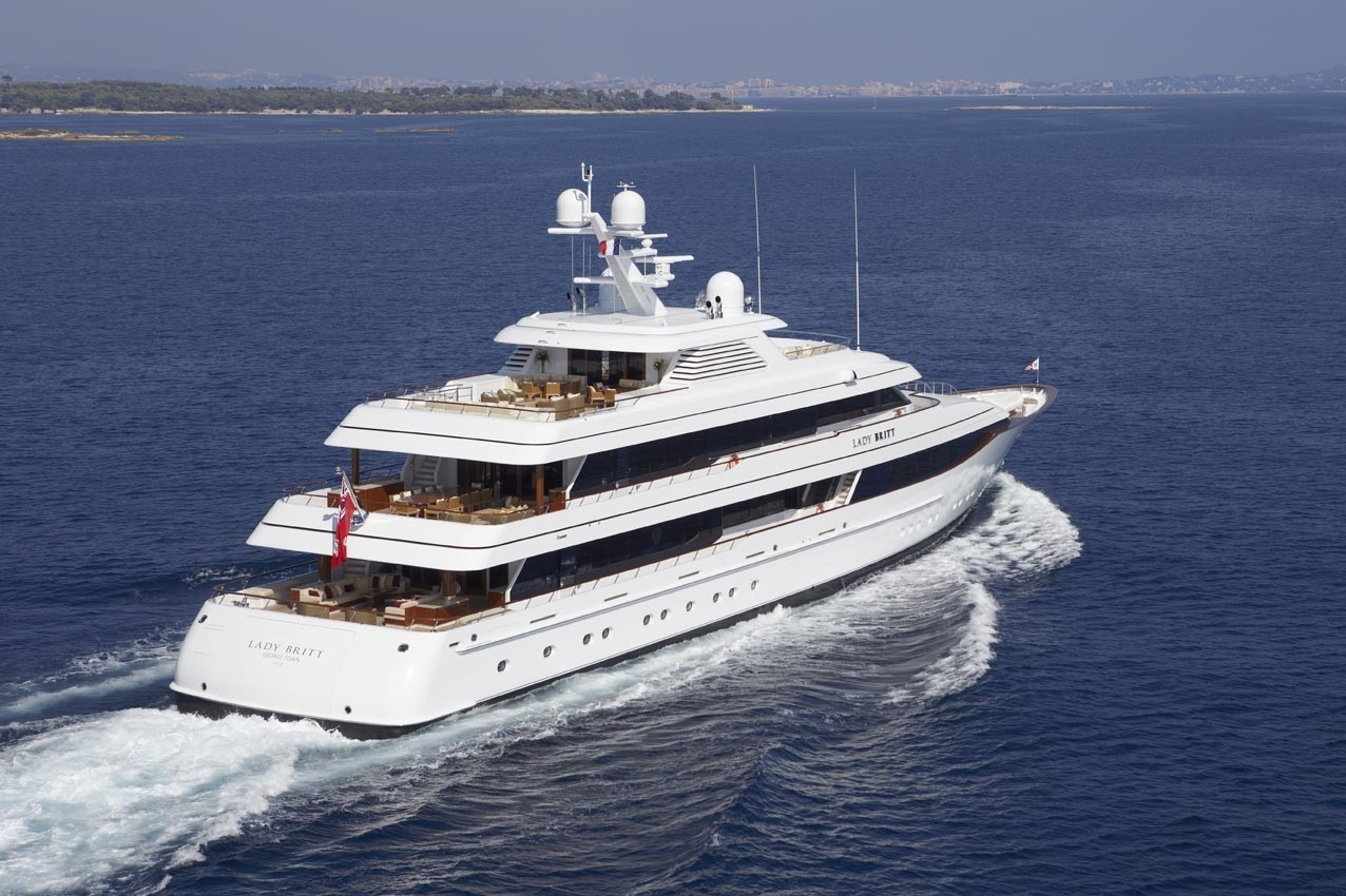 Cruising Including A Aspect Of The Aft Deck On Board Yacht LADY BRITT